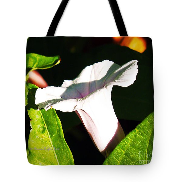 The White Trumpet Tote Bag