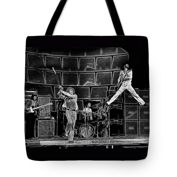 The Who - A Pencil Study - Designed By Doc Braham Tote Bag