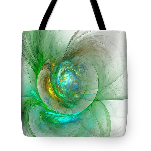 The Whole World In A Small Flower Tote Bag