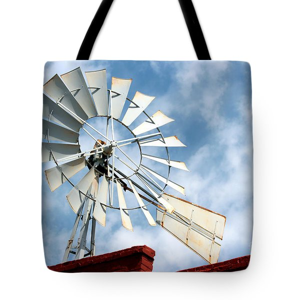 The Wind Wheel Tote Bag by Kathy  White