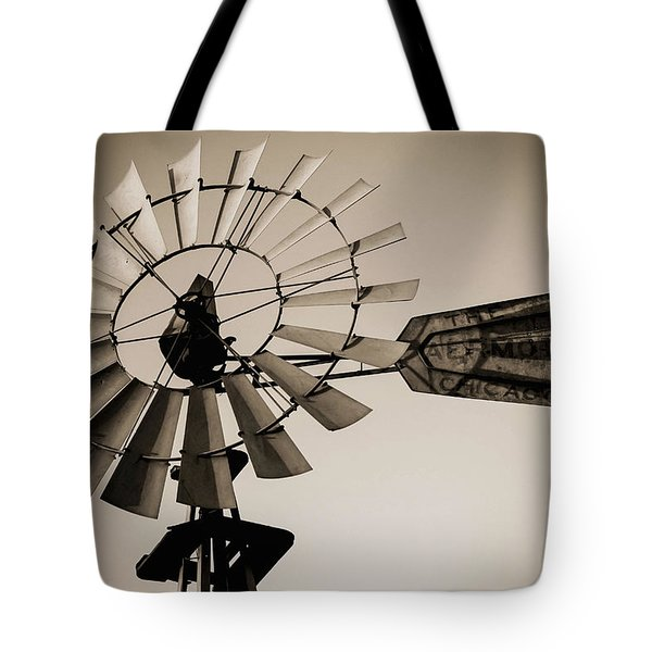 Tote Bag featuring the photograph The Windmill by Amber Kresge