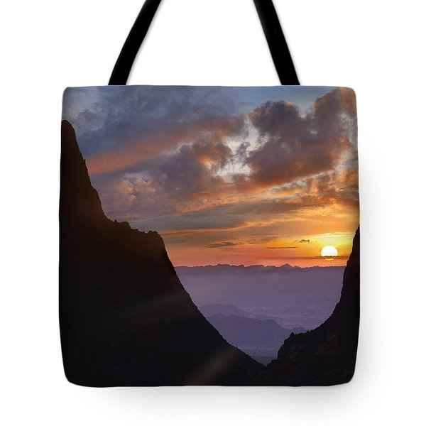 Tote Bag featuring the photograph The Window At Sunset Big Bend Np Texas by Tim Fitzharris