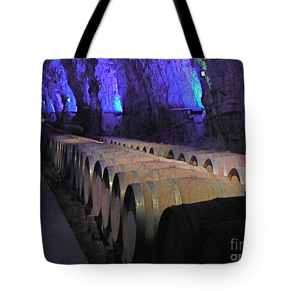 The Wine Cave Tote Bag by France  Art