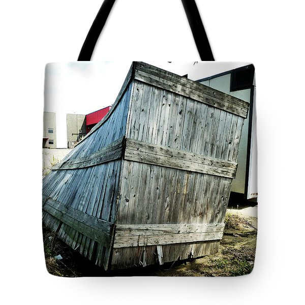 The Winner In The Leaning Contest Tote Bag by Steve Taylor