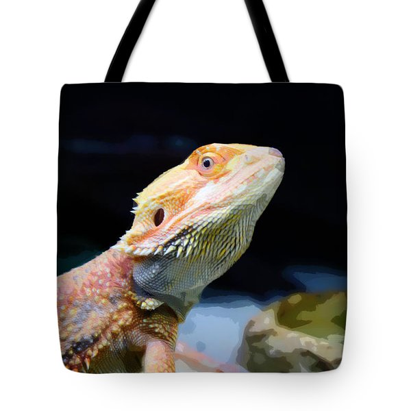 The Wise Lizard Tote Bag by Celestial Images
