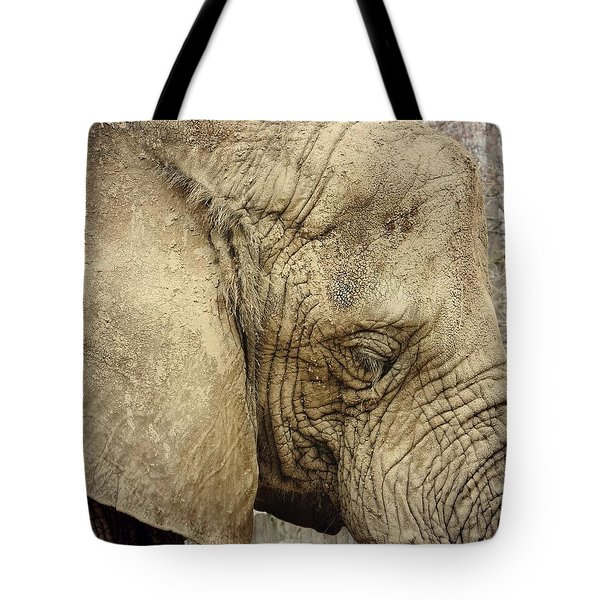 Tote Bag featuring the photograph The Wise Old Elephant by Nikki McInnes