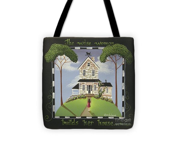 The Wise Woman Tote Bag by Catherine Holman