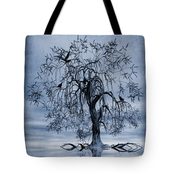 The Wishing Tree Cyanotype Tote Bag by John Edwards