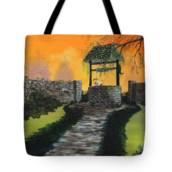 The Wishing Well Tote Bag by David Kacey