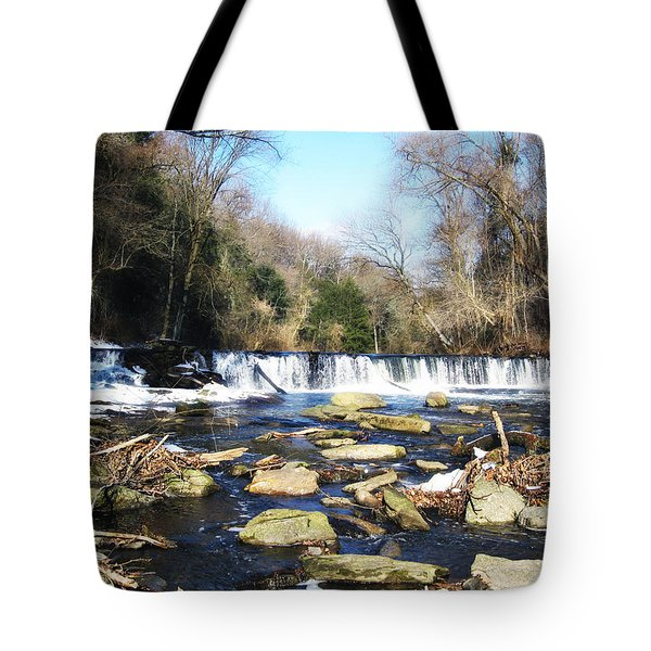 The Wissahickon Creek In February Tote Bag by Bill Cannon