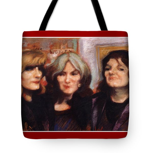 Tote Bag featuring the painting The Women by Walter Casaravilla
