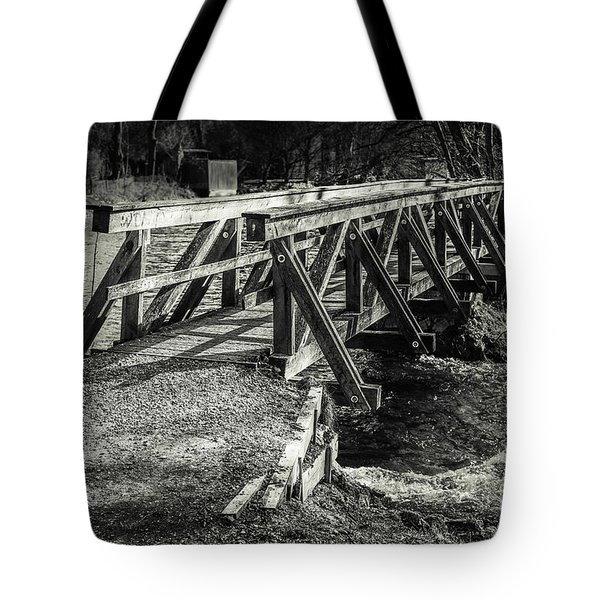 The Wooden Bridge Tote Bag by Hannes Cmarits