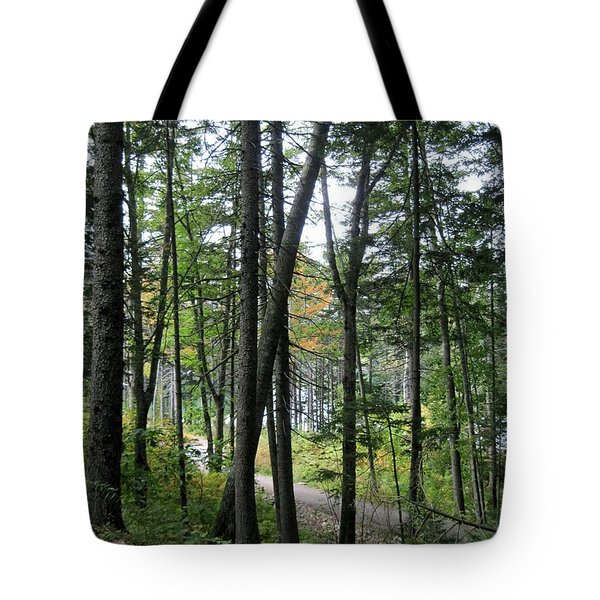 The Woods Coastal Maine Botanical Gardens Tote Bag