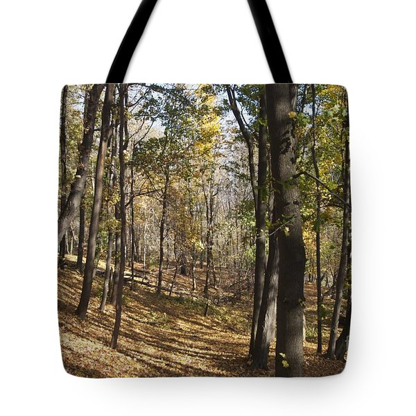 Tote Bag featuring the photograph The Woods by William Norton
