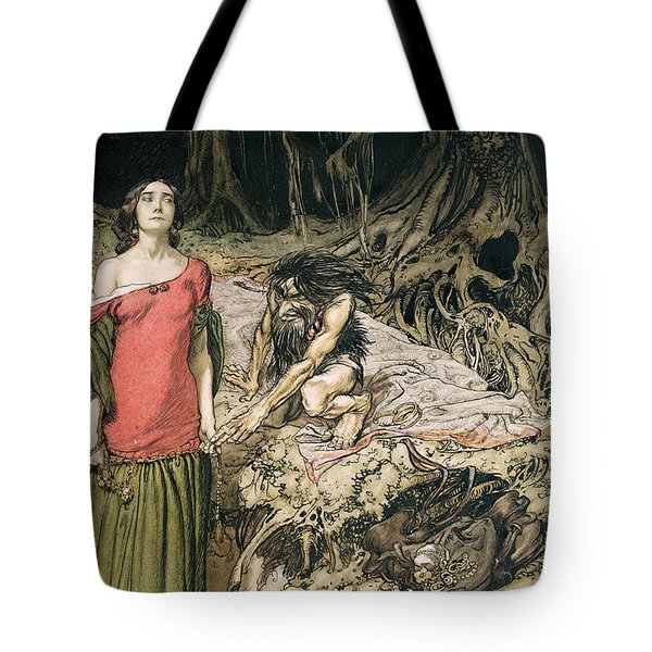 The Wooing Of Grimhilde The Mother Of Hagen From 'siegfried And The Twilight Of The Gods Tote Bag