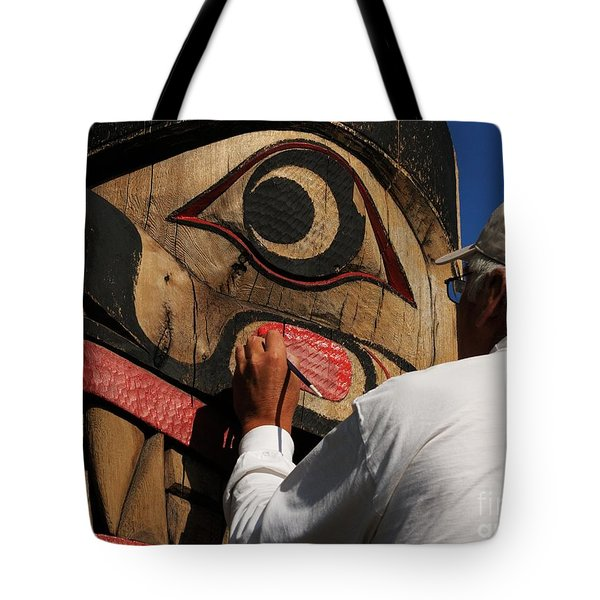 The Work Of An Artist Tote Bag by Vivian Christopher