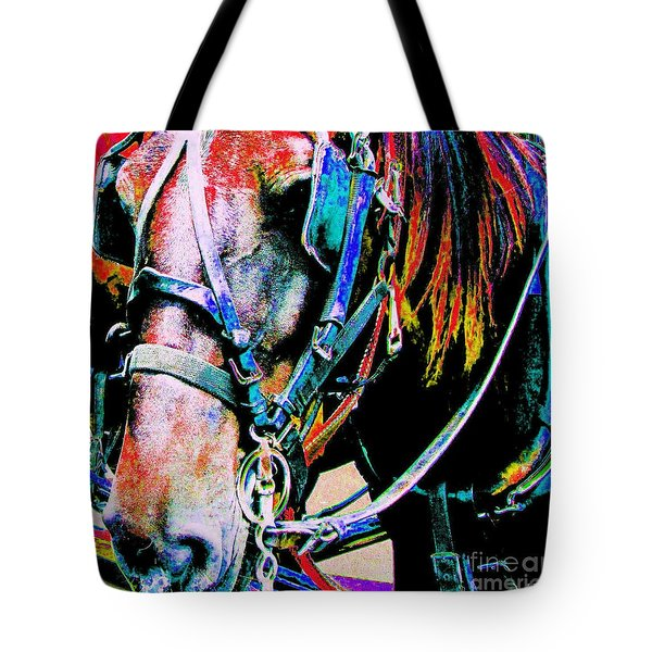 The Working Horse Tote Bag by Annie Zeno