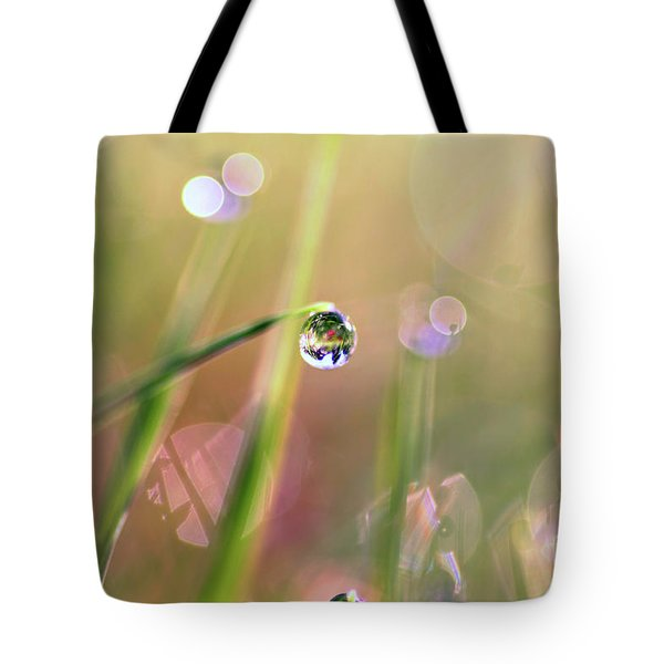 The World In A Drop Tote Bag by Sylvia Cook