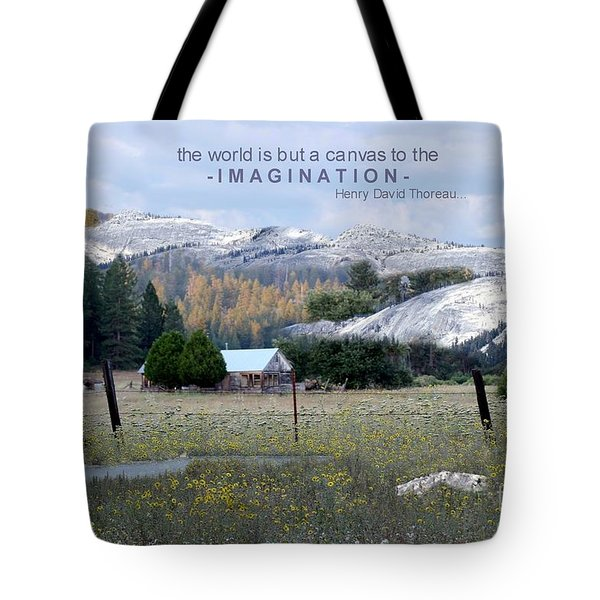 The World Is A Canvas Tote Bag
