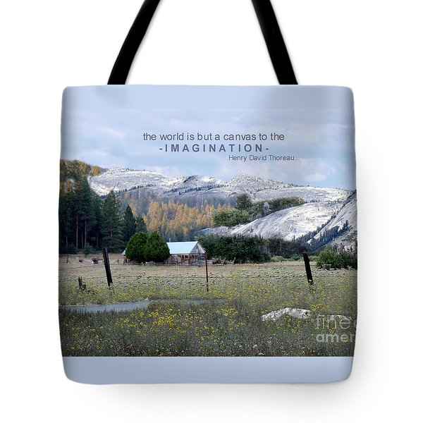 Tote Bag featuring the photograph The World Is A Canvas by Mary Lou Chmura