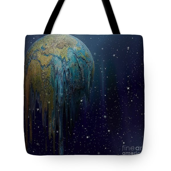 The World Is Melting Tote Bag by Liane Wright