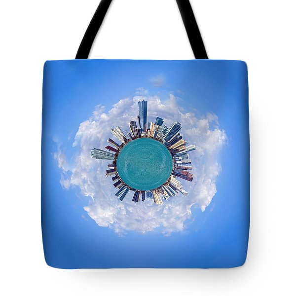 Tote Bag featuring the photograph The World Of Miami by Carsten Reisinger