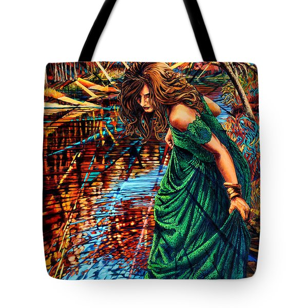 Tote Bag featuring the painting The World Unseen by Greg Skrtic