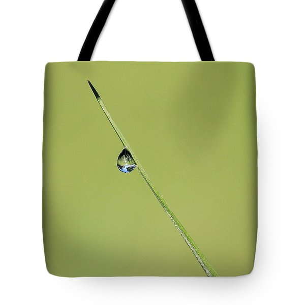 Tote Bag featuring the photograph The World Within A Dewdrop by Penny Meyers