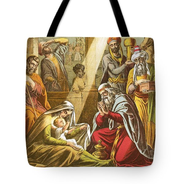 The Worship Of The Wise Men  Tote Bag by English School