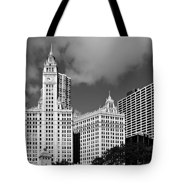 The Wrigley Building Chicago Tote Bag by Christine Till