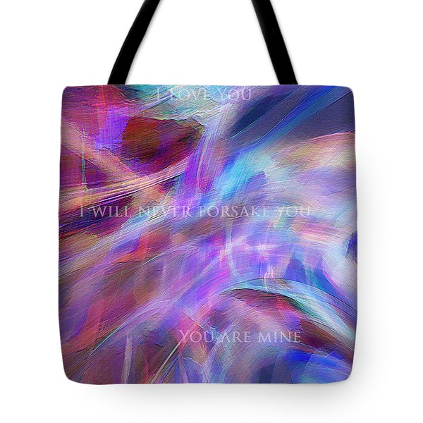 Tote Bag featuring the digital art The Writing's On The Wall by Margie Chapman