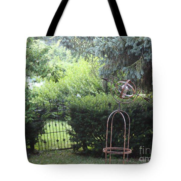 The Wrought Iron Gate Tote Bag by Yvonne Wright