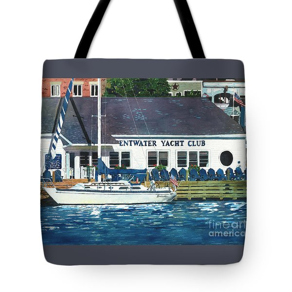 Tote Bag featuring the painting The Yacht Club by LeAnne Sowa
