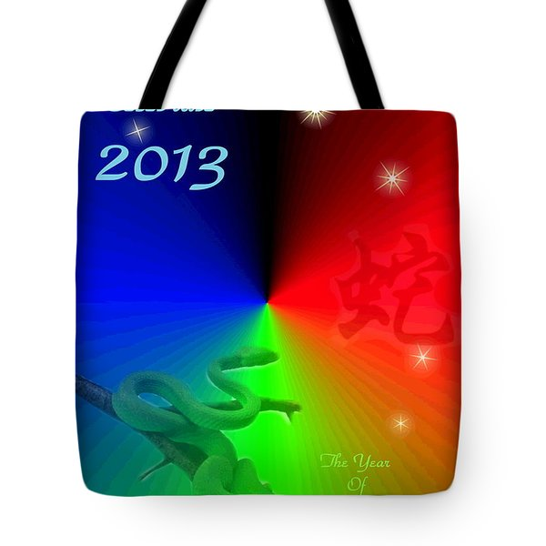 The Year Of The Snake Tote Bag by Joyce Dickens