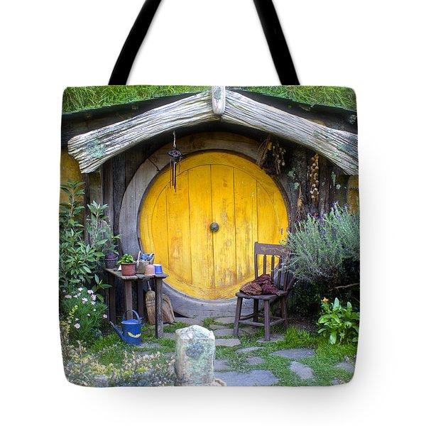 Yellow Hobbit Door Tote Bag