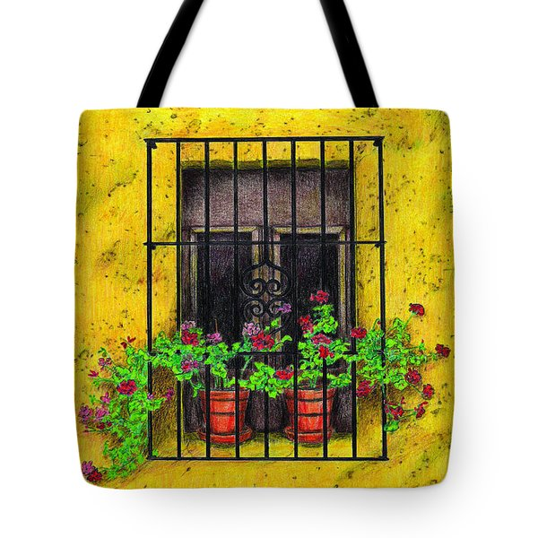 The Yellow House Tote Bag by Lew Davis
