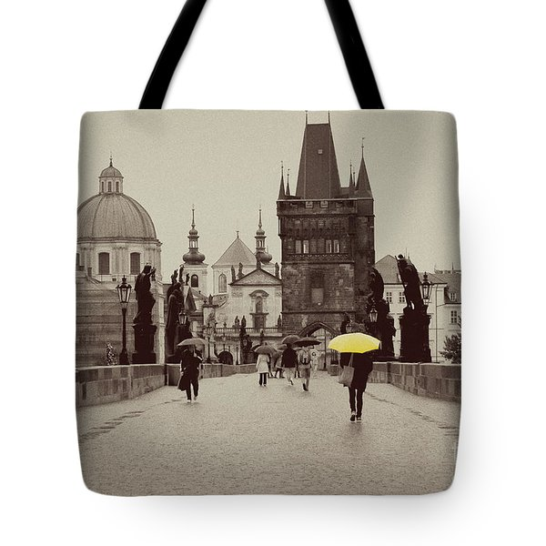 The Yellow Umbrella Tote Bag