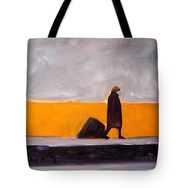 The Yellow Wall Tote Bag