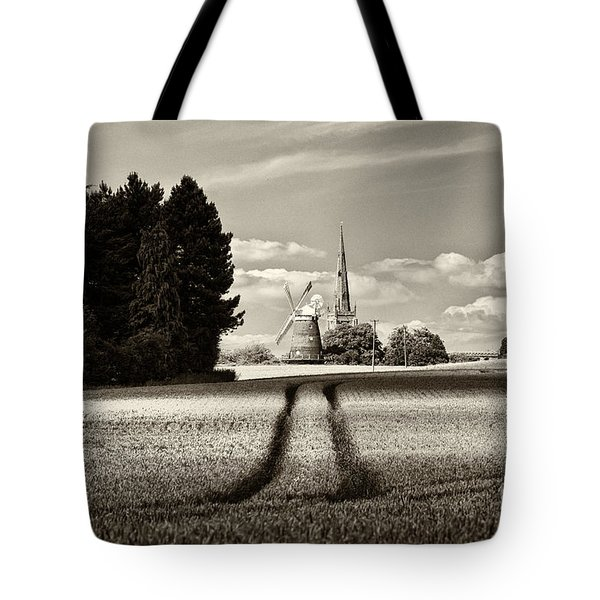 Tote Bag featuring the photograph The Yellowing Corn Thaxted by Jack Torcello