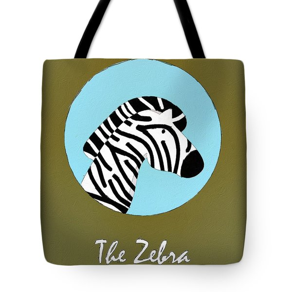 The Zebra Cute Portrait Tote Bag by Florian Rodarte