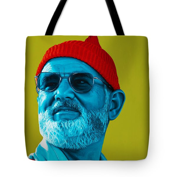 The Zissou- Background Edit Tote Bag by Ellen Patton