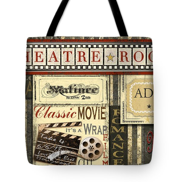 Theatre Room Tote Bag by Jean Plout