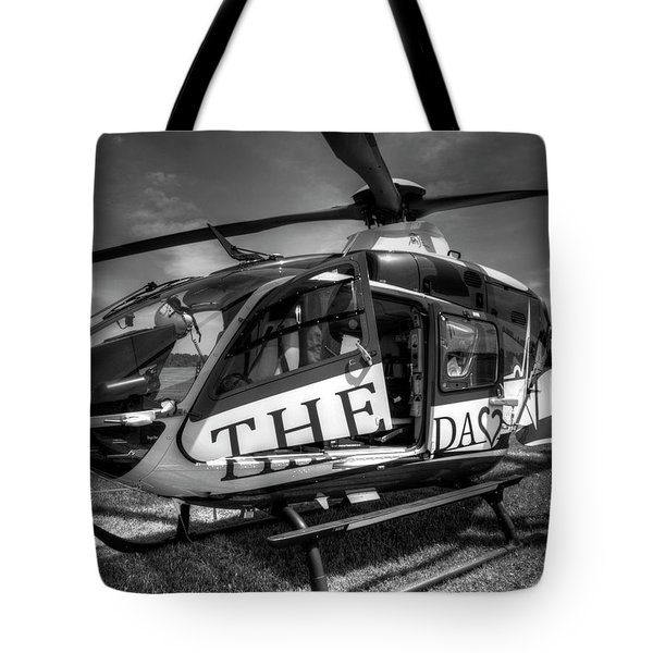 Theda Star Black And White Tote Bag