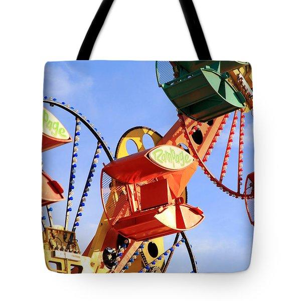 Theme Park Ride Tote Bag by Valentino Visentini