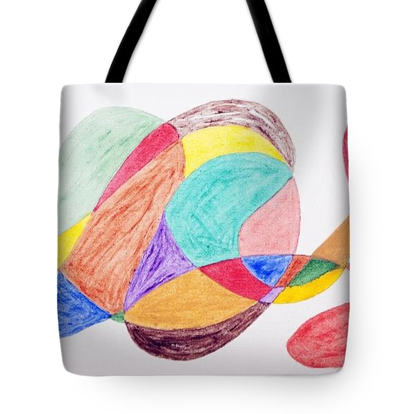 Tote Bag featuring the painting Theme Parks by Stormm Bradshaw