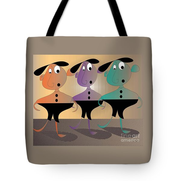Tote Bag featuring the digital art Then There Were Three by Iris Gelbart