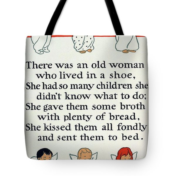 There Was An Old Women Who Lived In A Shoe Tote Bag by Mother Goose