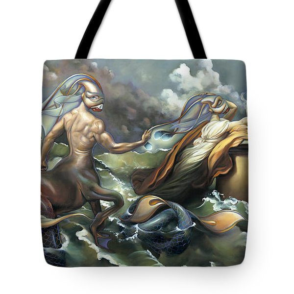 There's Something Fowl Afloat Tote Bag by Patrick Anthony Pierson
