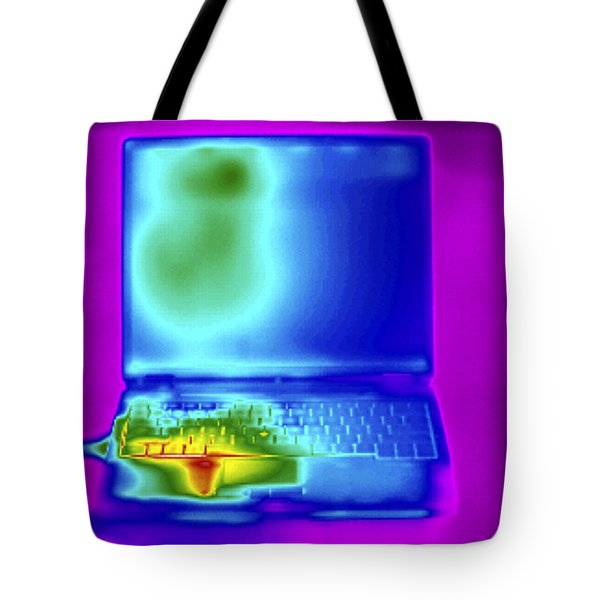 Thermogram Of A Laptop Tote Bag