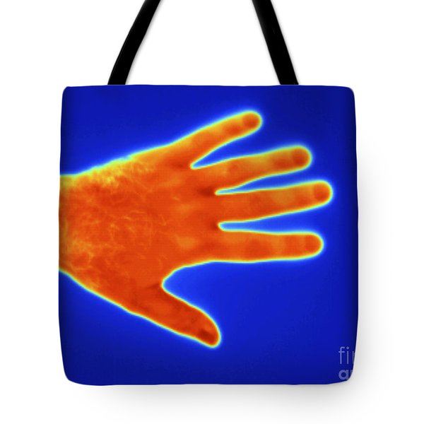 Thermogram Of A Mans Hand Tote Bag